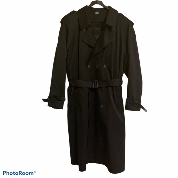Men's Stafford Belted Trench Coat Zip-out Lining